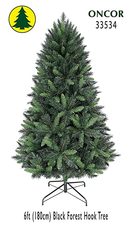 Oncor 6ft Eco-Friendly Black Forest Christmas Tree - Amazon.com: Oncor 6ft Eco-Friendly Black Forest Christmas Tree: Home