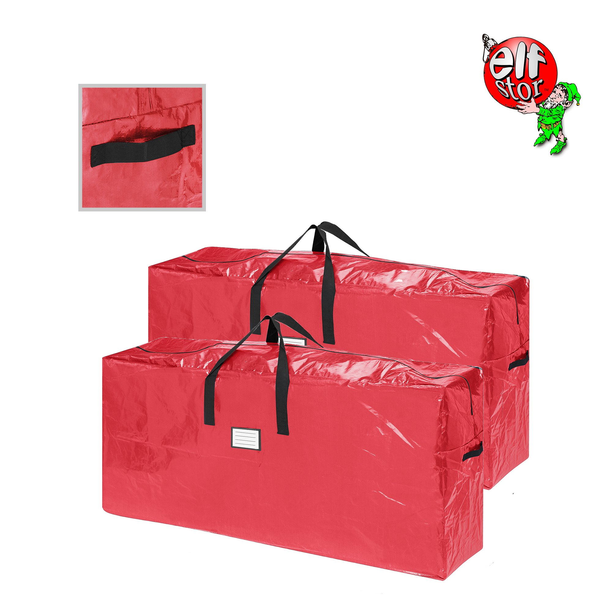 Elf Stor 83-DT5517 2-Pack | Christmas Bag | Extra Large for up to 9 Ft Tree | Red