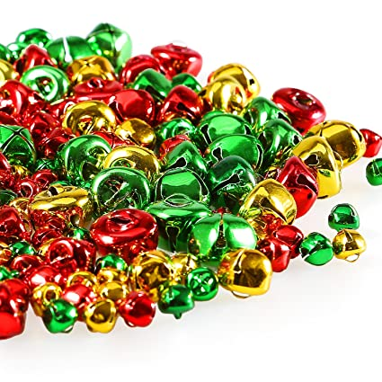 coobey christmas jingle bells small bells bulk loose beads charms for christmas supplies decoration 3