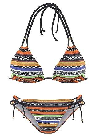 bestbewertet Kunden zuerst Schlussverkauf Bruno Banani LM Bruno Banani Triangel-Bikini mit tropischem ...