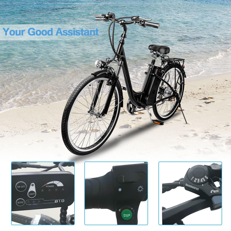 VEEKO 26'' City Electric Bicycle Ebike with 36V 10Ah Lithium Battery by VEEKO (Image #7)