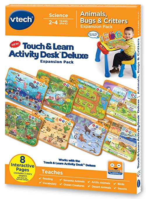 84f0bf3a6f3 Amazon.com  VTech Touch and Learn Activity Desk Deluxe Expansion ...
