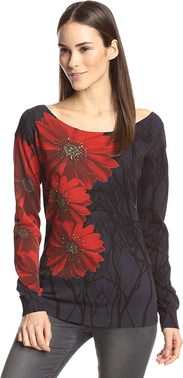 Desigual Store Sales for sale Women's Woman Silvia Pullover Long-Sleeve