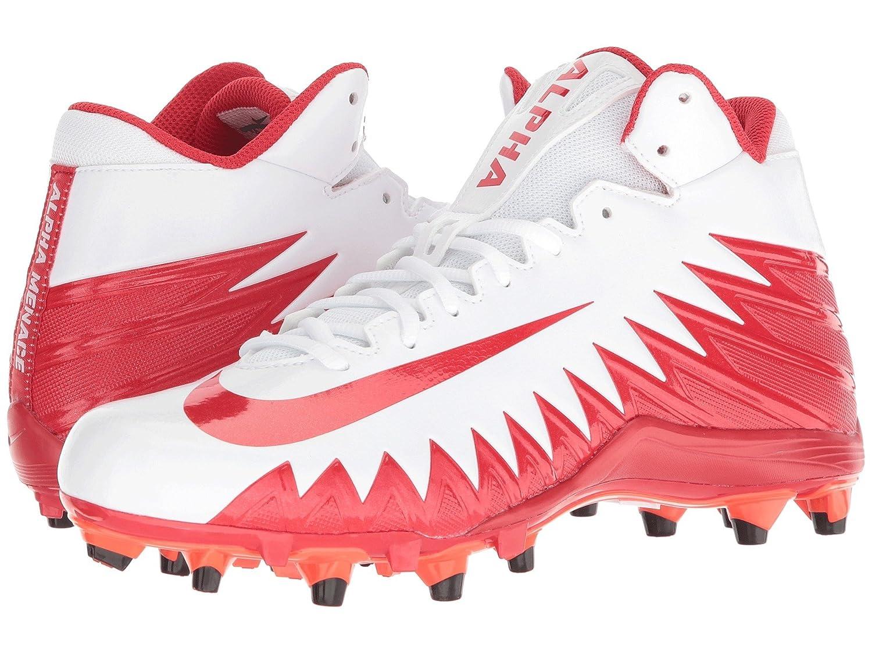 (ナイキ) NIKE メンズフットボールアメフトシューズ靴 Alpha Menace Varsity Mid White/University Red/Total Crimson 10.5 (28.5cm) D Medium B07CP4RT5Z
