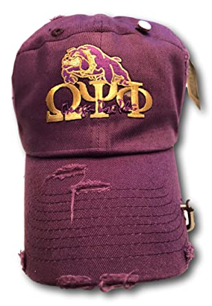 6f6af1db51131 Image Unavailable. Image not available for. Color  Omega Psi Phi Purple  Rugged Dad Hat Cap
