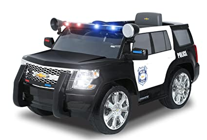 Amazon Com Rollplay 6 Volt Chevy Tahoe Police Suv Ride On Toy