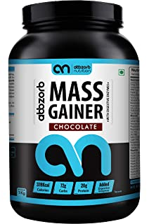 Abbzorb Nutrition Mass Gainer with Digestive Enzymes, 1 Kg, Chocolate Flavour