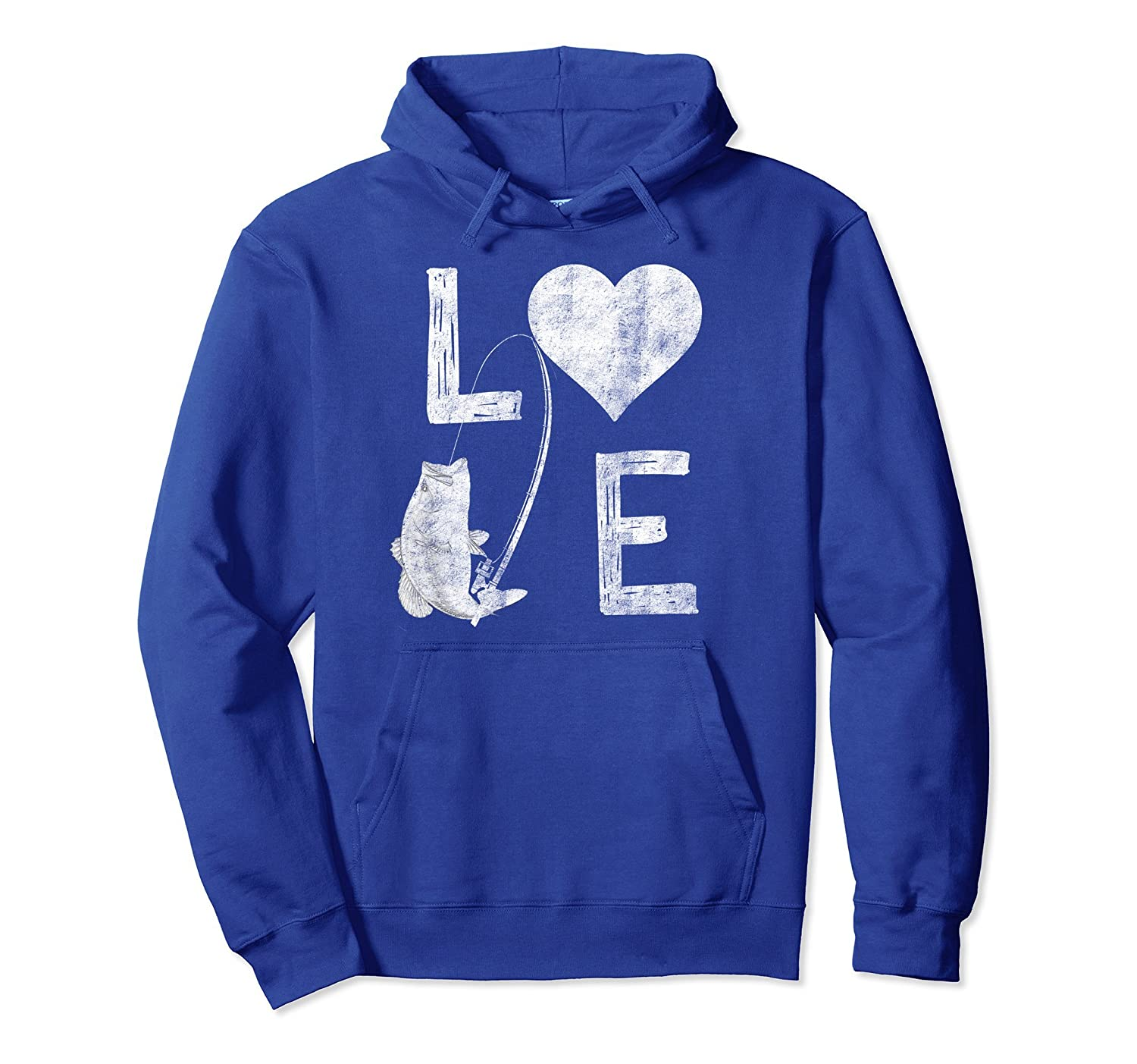 Love Largemouth Bass Fishing Shirt Distressed Hoodie-Veotee