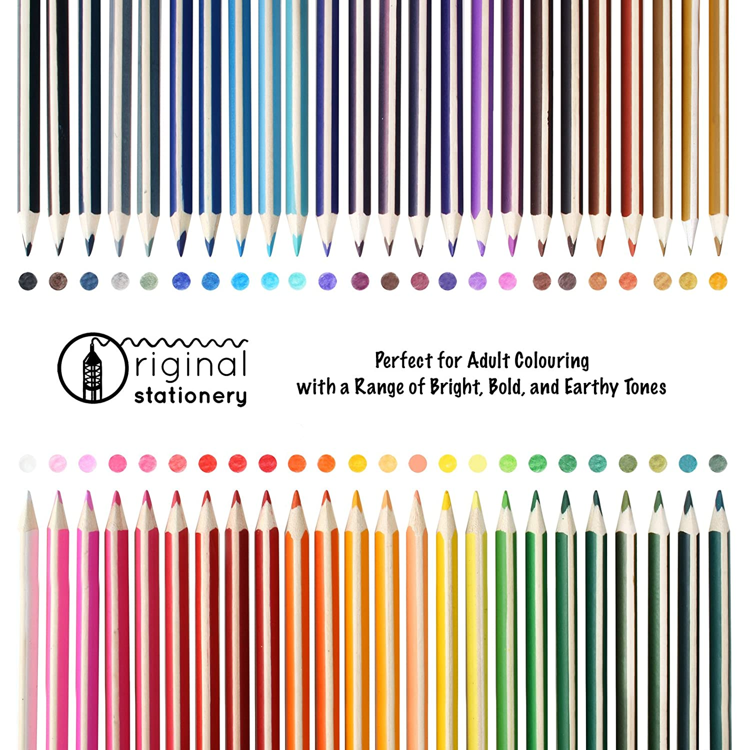 Original Stationery Deluxe Anti Break Colouring Pencil Set for Adult