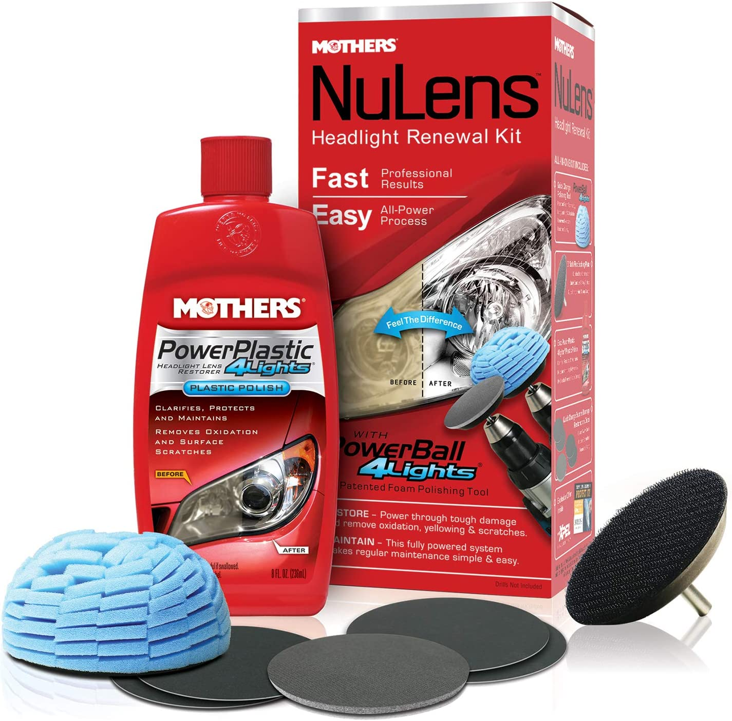 Mothers 07251 NuLens Headlight Renewal Kit