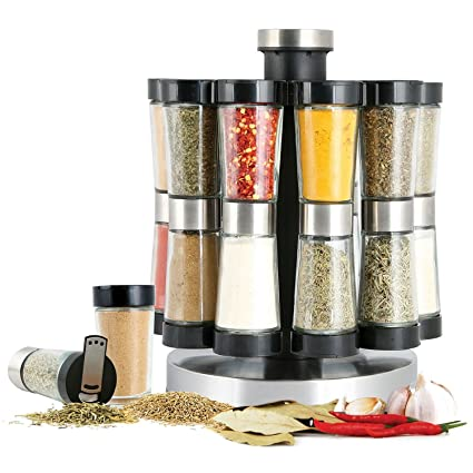 Amazoncom New 20 Jar Rotating Spice Rack Revolving With Spices