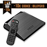 TV Box Android 7.1 [2GB RAM + 16GB ROM] A1 Plus Smart TV Box Wi-Fi/ Bluetooth 4.0 / 4K Full HD (Grigio)