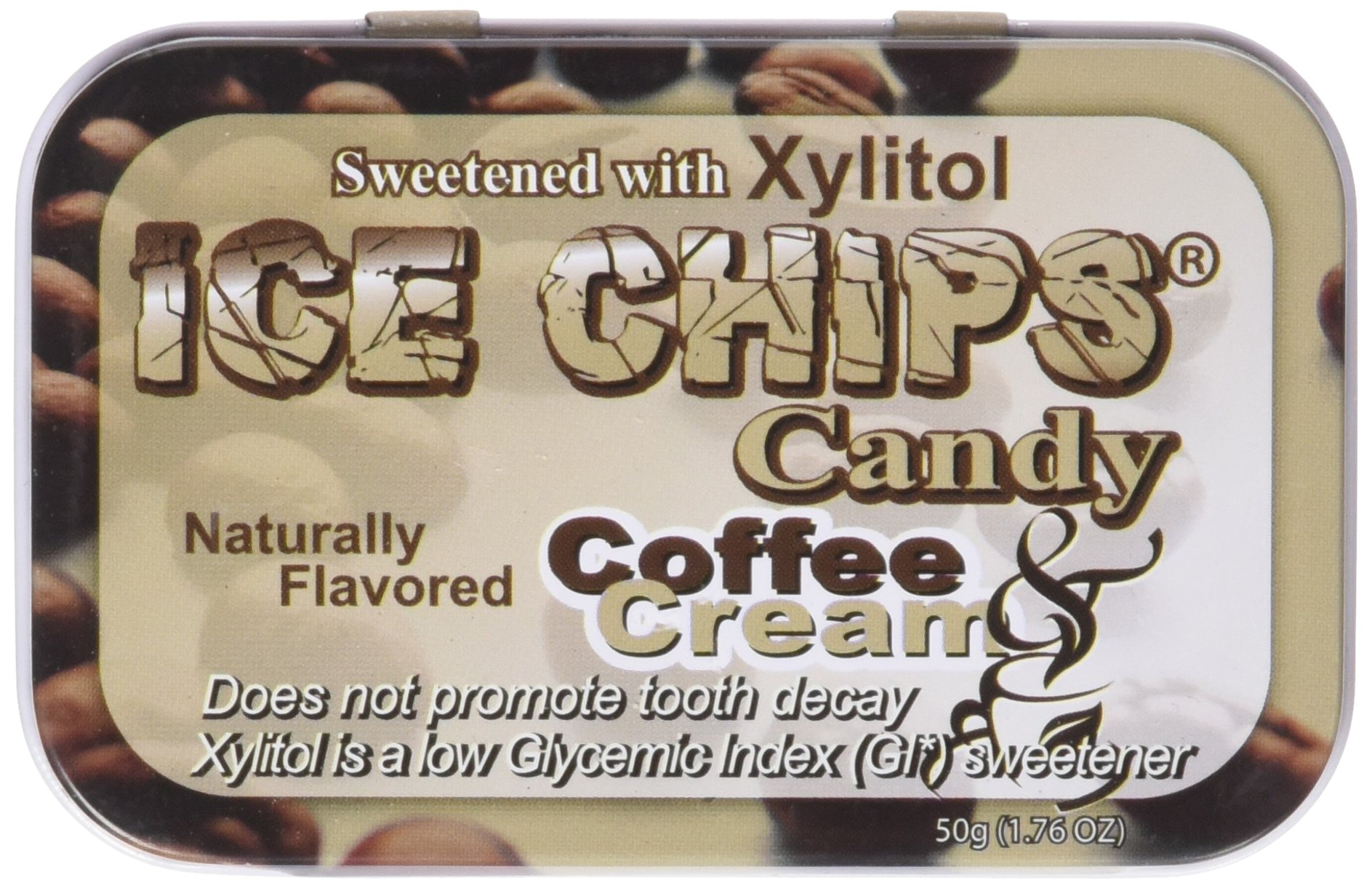 Hand Crafted Candy Tin Coffee & Cream Ice Chips Candy 1.76 oz Candy
