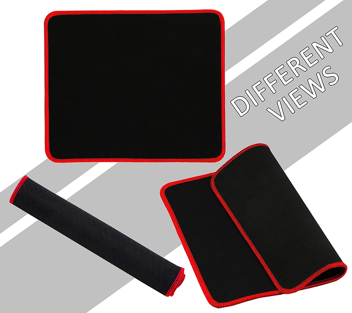 Offices /& Home 25 Pack 2mm Laptops SNDIA Mouse Pads with Non-Slip Rubber Base with Stitched Edges for Computers