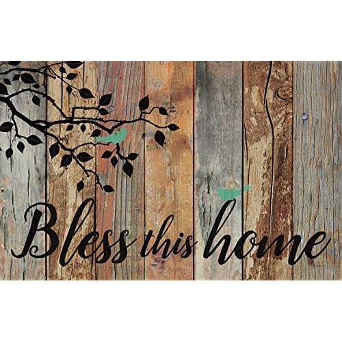 distressed wood wall art distressed white p graham dunn bless this home birds design distressed 25 16 inch solid pine wood wall art amazoncom