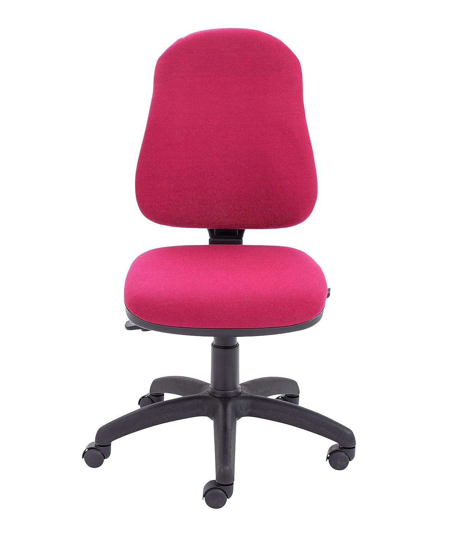 office hippo Silla de Oficina con Oscuro, Respaldo Alto, Tela, Rojo Oscuro, con 65x65x96 cm d55fcb