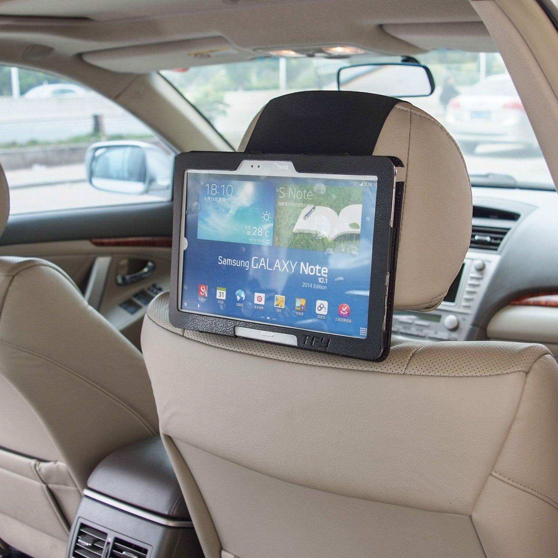 TFY Soporte de Samsung Galaxy Tab 3 & Tab PRO 10.1 pulgadas para el Reposacabezas del Coche 2P600PUXS