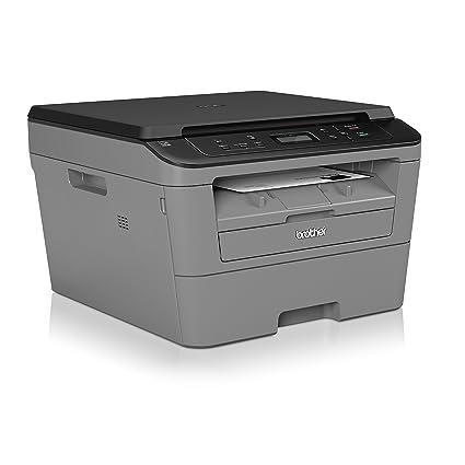 Brother DCP-L2500D - Impresora multifunción láser monocromo (impresión automática a doble cara, conectividad USB 2.0 Hi Speed), Negro/Gris