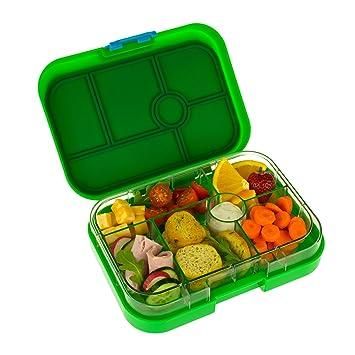 Edición limitada – Lonchera Classic de Yumbox para niños – Color verde manzana con diseño circense en la bandeja.: Amazon.es: Hogar