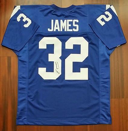 huge discount faf08 de7ea Autographed Edgerrin James Jersey - JSA Certified ...