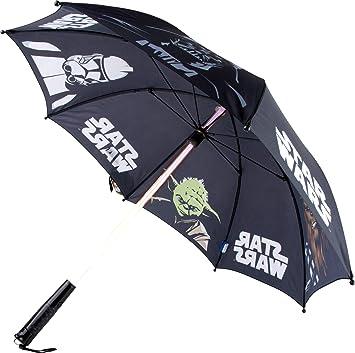 Star Wars Espada de luz paraguas con luz, diámetro aprox. 86 cm