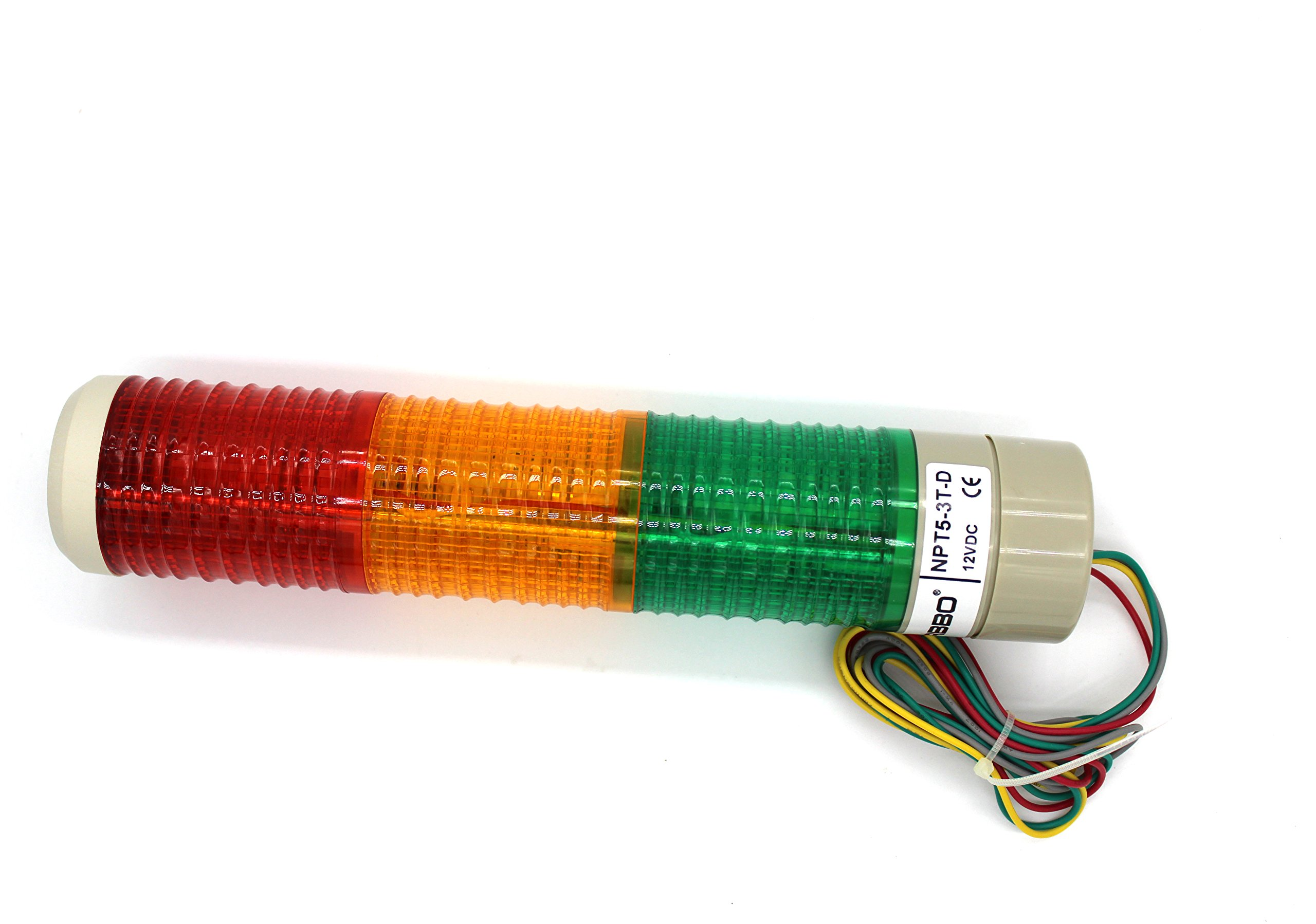 Industrial Signal Light Column LED Alarm Round Tower Light Indicator Warning light r Red Green Yellow DC 12V Steady On