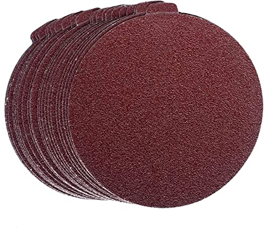 10 Pack, 80 Grit 8 Inch Heavy Duty Adhesive Sticky Back Tabbed Sanding Discs
