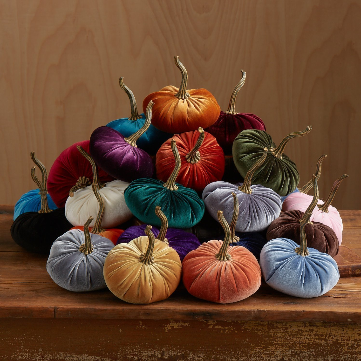 Velvet Pumpkins, SET of 4: Hot Pink, Magenta, Pink, White: Home Decor, Holiday Mantle Decor, Centerpiece, Fall, Halloween, Thanksgiving