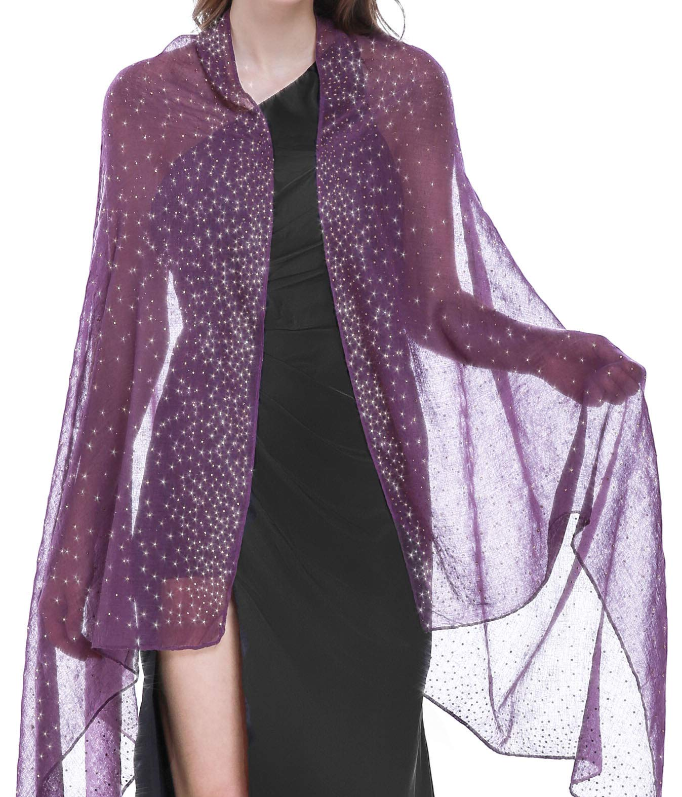 Shawls and Wraps for Evening Dresses Purple by Banetteta