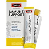 Swisse Ultiboost Immune Support 果冻棒,橙子西番莲   锌、硒、接骨木和麦卢卡蜂蜜   便携果冻棒   10 支