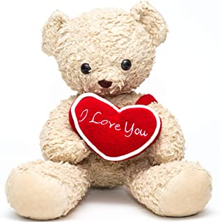 """product image for Bears For Humanity 16"""" I Love You Bear, Cream"""