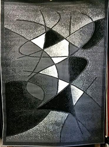 Modern Abstract Area Rug Grey Design GL24 8ft.x10ft.
