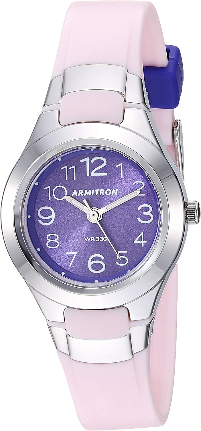 Armitron Sport Women's 25 6418 Easy to Read Dial Resin Strap Watch