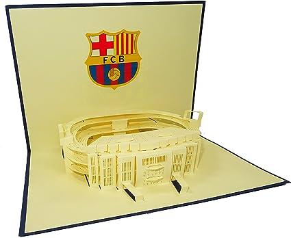 Barcelona estadio Camp Nou estadio diseño 3D surgir Tarjeta de ...