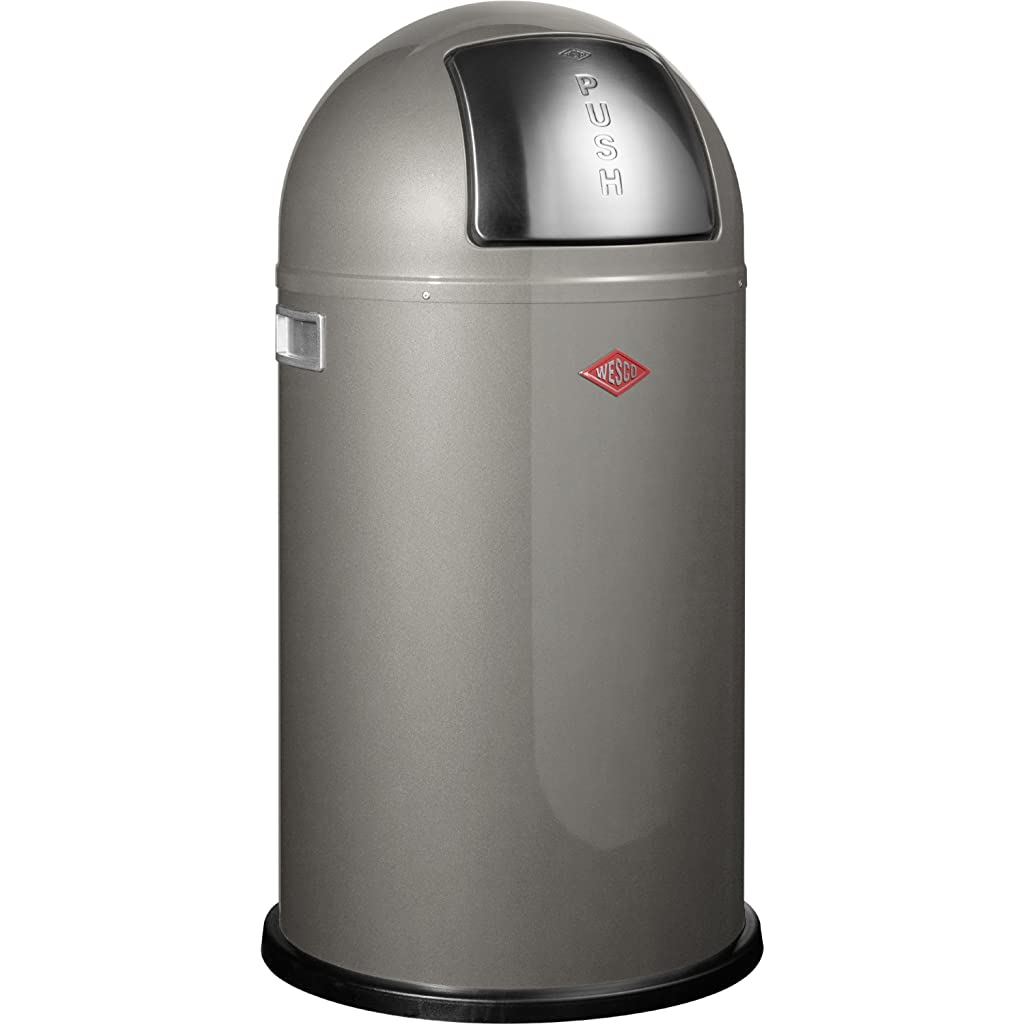 Wesco Pushboy 50 Litre Bin - Graphite