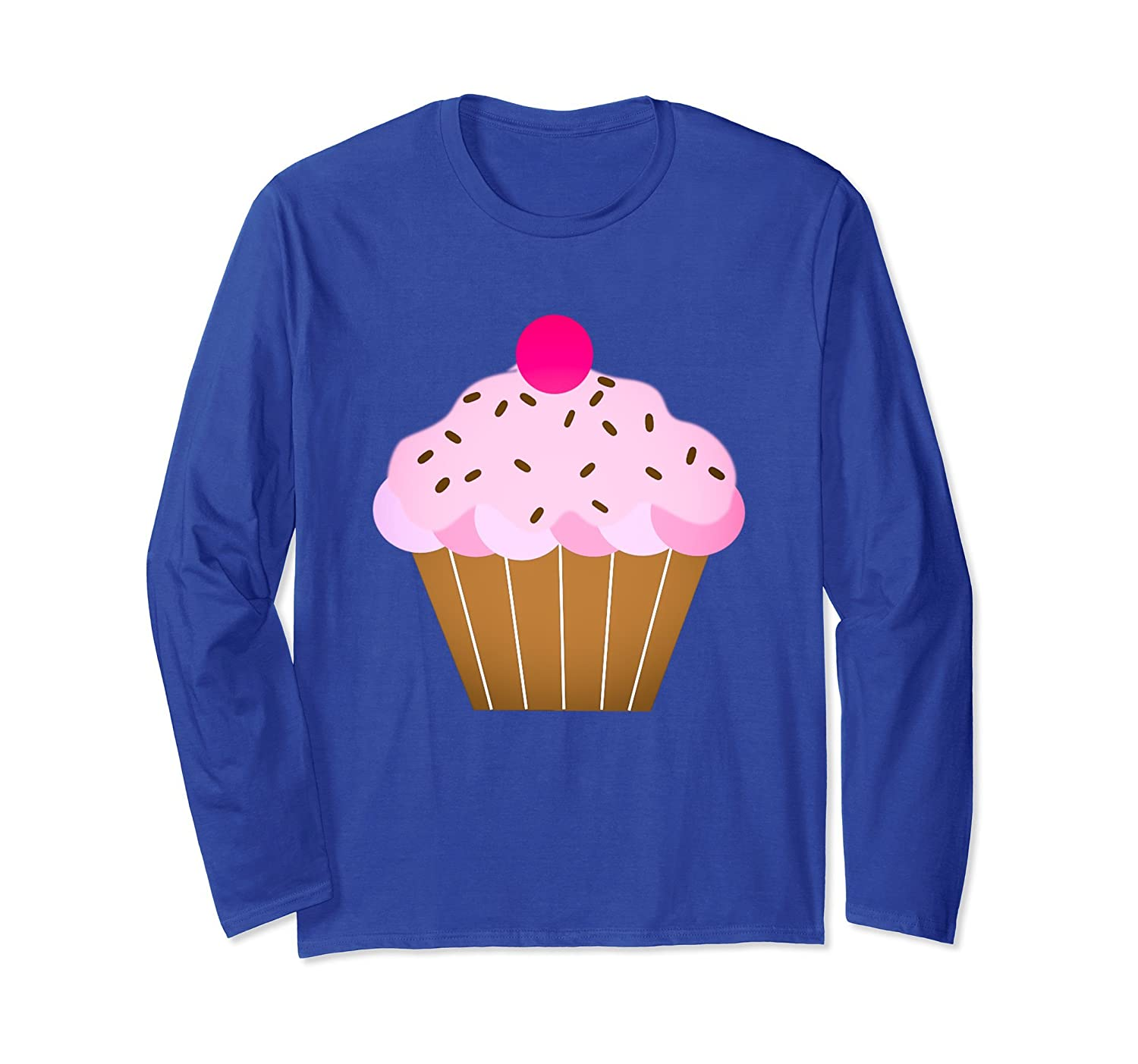 Love Cupcakes Long Sleeve t-shirt Cute Pink Strawberry Treat-mt