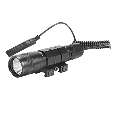 OxyLED OxyWild Tactical Flashlight with Tail Mount, Pressure Swith And Rechargeable Batteries