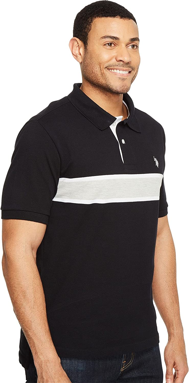 Mens Engineered Chest Stripe Pique Polo Shirt Polo Assn U.S