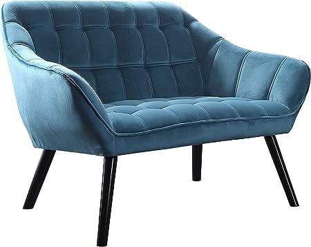 Sofá de dos plazas modelo Olden, inspirado en el diseño escandinavo, minimalista y elegante, dispone
