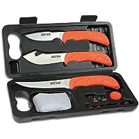 Outdoor Edge WL-6 Malette de 6 pièces (couteaux, gants et aiguiseur) Orange/Gris, 127 mm