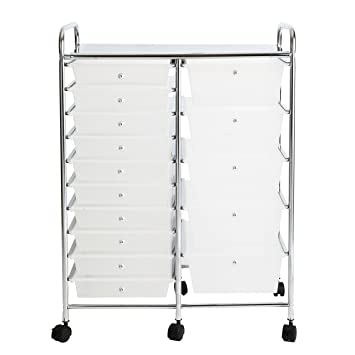 rolling carts for office. Finnhomy 15Drawer Rolling Cart Organizer,Storage With Drawers, Utility For School, Carts Office N