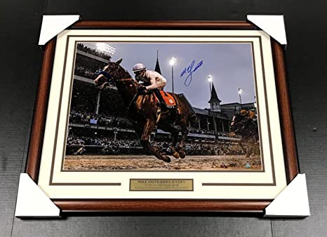 529c6698899 Image Unavailable. Image not available for. Color  Mike Smith Autographed  Justify Kentucky Derby Framed ...