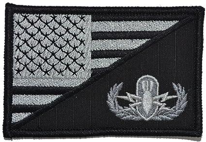 84bc4dc2162 Amazon.com  Explosive Ordnance Disposal EOD USA Flag 2.25 x 3.5 inch ...