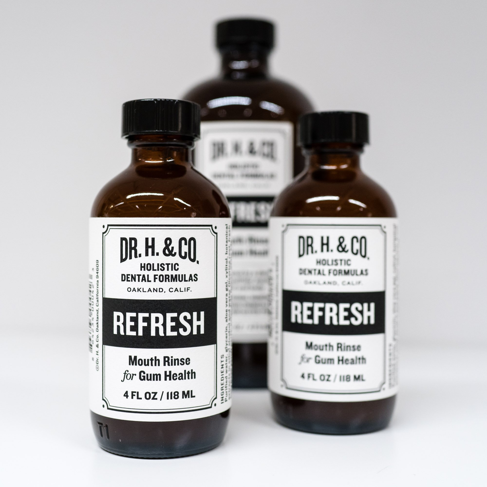 Dr. H. & Co. Dentist Formulated Refresh Mouthwash Ð All Natural Herbal and Holistic Mouth Rinse for Healthy Gums and Teeth (4 oz Glass Bottle) by Dr. H. & Co. (Image #6)