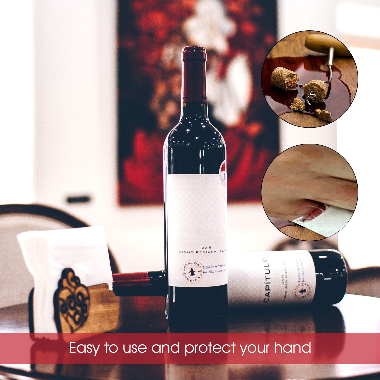 Electric Wine Opener Gift Set, Kimfly luxurious Rechargeable Wine Bottle Opener, Cordless Corkscrew, Stainless Steel Automatic Wine Opener With Foil Cutter, Wine Stopper, Wine Aerator by Kimfly (Image #5)