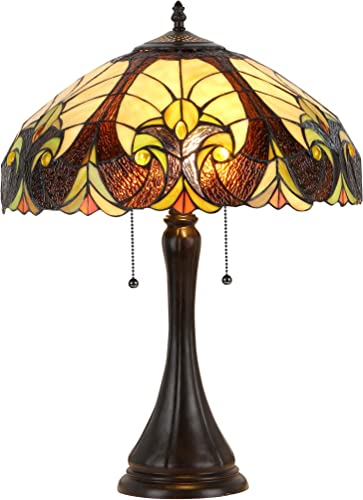 Chloe Lighting CH38780VI16-TL2 Amor Tiffany-Style Victorian 2 Light Table Lamp 16 Shade