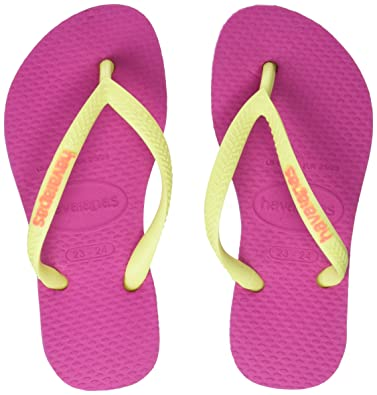 95ce92230066 Havaianas Flip Flops Girls Slim Logo  Amazon.co.uk  Shoes   Bags