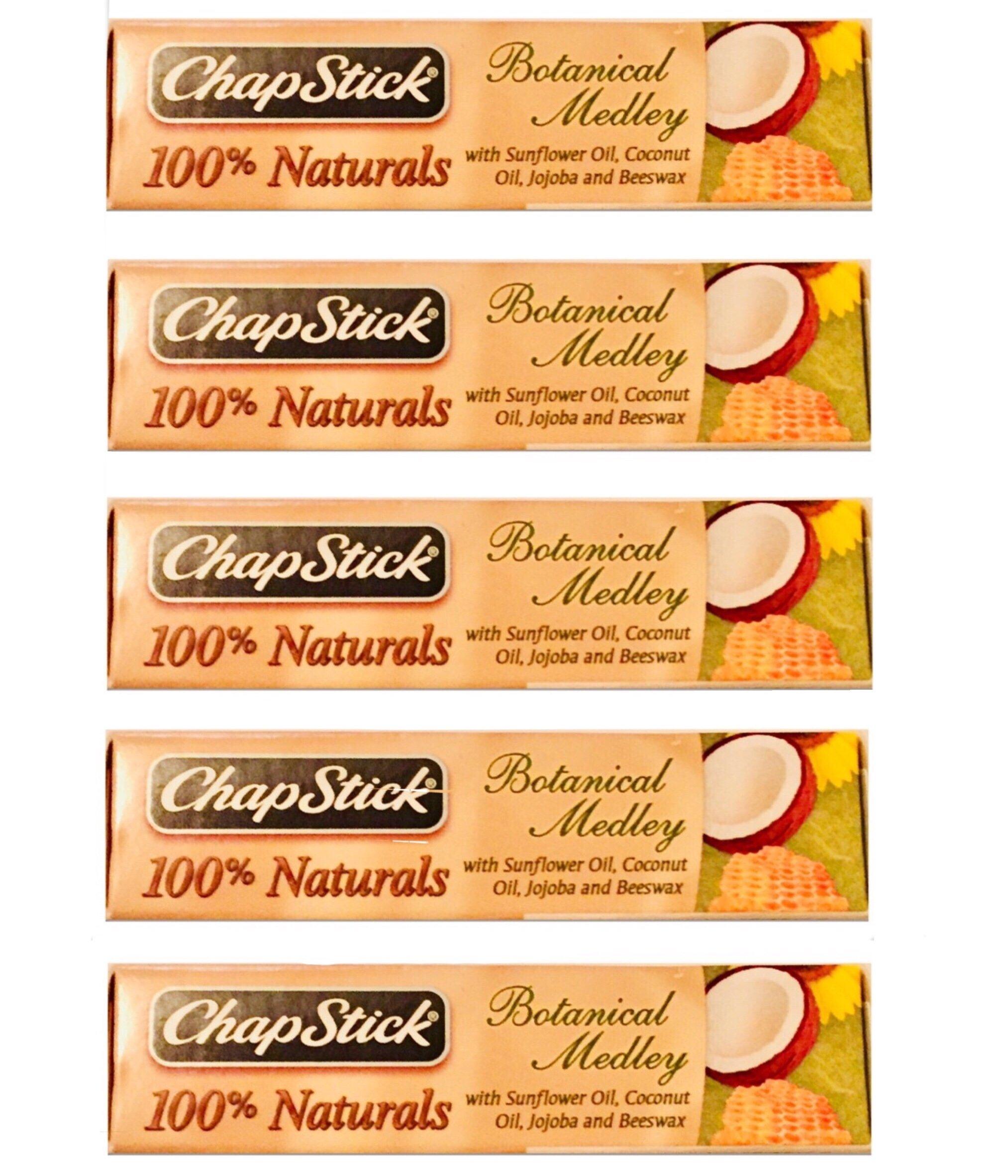 [FIVE PACK] ChapStick® 100% Naturals Lip Balm, Botanical Medley