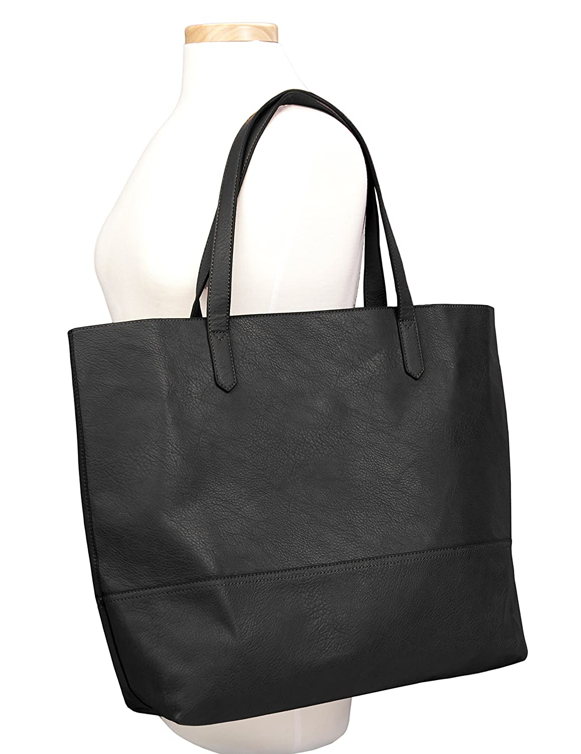 6fec965420 Amazon.com  Overbrooke Large Vegan Leather Tote Bag - Womens Slouchy  Shoulder Bag with Open Top  Shoes
