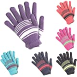 Malvina Boys|Girls Winter Multicolor Woollen Gloves Pack Of 6 For Age-6-7 Years